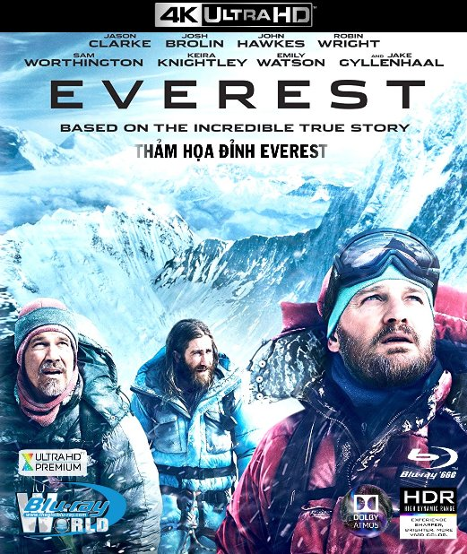 4KUHD-100. Everest 2015 - THẢM HỌA ĐỈNH EVEREST 4K-66G (TRUE- HD 7.1 DOLBY ATMOS)