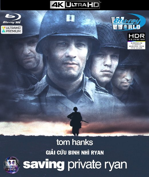 4KUHD-125. Saving Private Ryan - Giải Cứu Binh Nhì Ryan 4K-66G (TRUE- HD 7.1 DOLBY ATMOS)