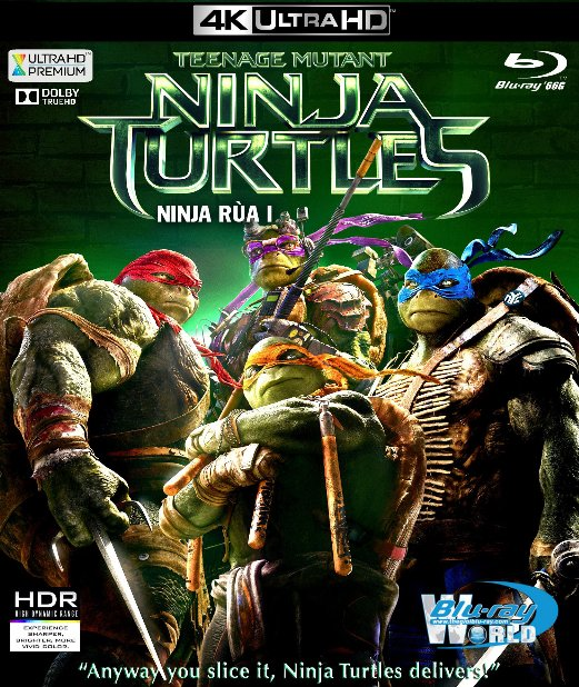 4KUHD-261. Teenage Mutant Ninja Turtles - Ninja Rùa I 4K-66G (DOLBY TRUE-HD 7.1)