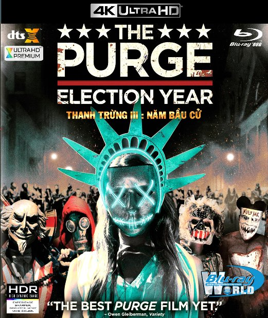 4KUHD-296.The Purge III : Election Year - Thanh Trừng III 4K-66G (DTS:X 7.1)