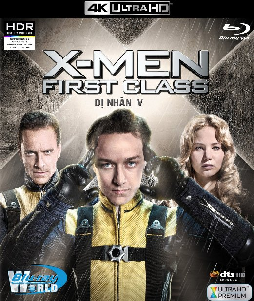 4KUHD-299. X-Men V : First Class - Dị Nhân V 4K-66G (DTS-HD MA 5.1)