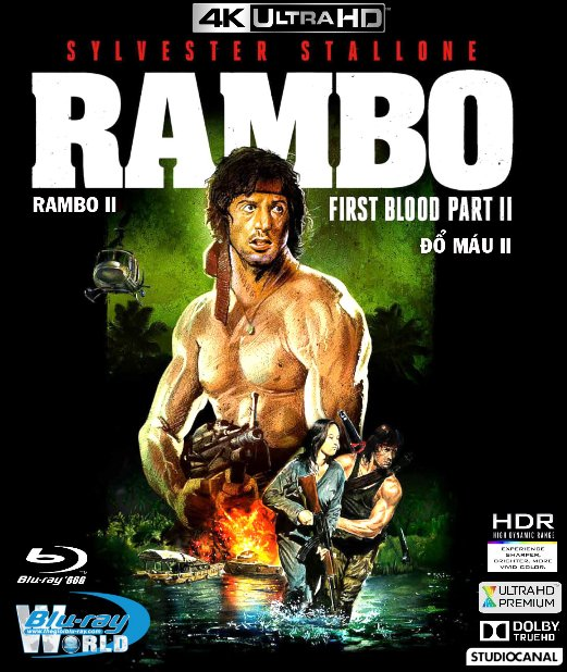 4KUHD-329. Rambo II : First Blood - Đổ Máu 2 4K-66G (DOLBY TRUE-HD 5.1)