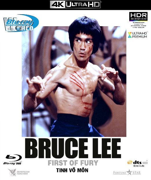 4KUHD-362. Bruce Lee - Fist of Fury 1972 - Tinh Võ Môn 4K-66G (DTS-HD MA 7.1)