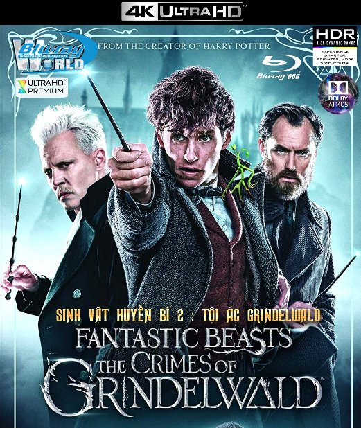 4KUHD-381. Fantastic Beasts The Crimes of Grindelwald 2019 - Sinh Vật Huyền Bí II Tội Ác Của GrindelWald 4K-66G (TRUE- HD 7.1 DOLBY ATMOS)
