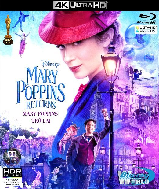 4KUHD-388. Mary Poppins Returns 2019 - Mary Poppins Trở Lại 4K-66G (TRUE- HD 7.1 DOLBY ATMOS) OSCAR 91