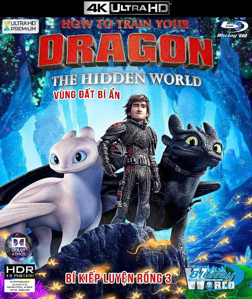 4KUHD-394. How to Train Your Dragon III: The Hidden World 2019 - Bí Kíp Luyện Rồng 3: Vùng Đất Bí Ẩn 4K-66G (TRUE- HD 7.1 DOLBY ATMOS)