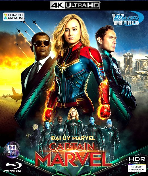 4KUHD-414. Captain Marvel 2019 - Đại Úy Marvel 4K-66G (TRUE- HD 7.1 DOLBY ATMOS)