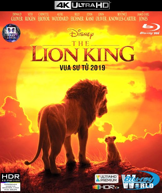 4KUHD-489. The Lion King 2019 - Vua Sư Tử 4K-66G (TRUE- HD 7.1 DOLBY ATMOS - HDR 10+)