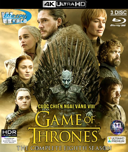4KUHD-522.Game of Thrones Season VIII - Cuộc Chiến Ngai Vàng 8 4K-66G - 3DISC (TRUE - HD 7.1 DOLBY ATMOS)