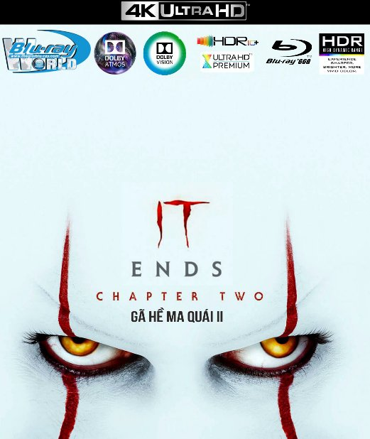 4KUHD-523. It Chapter Two 2019 - Gã Hề Ma Quái 2 4K-66G (TRUE- HD 7.1 DOLBY ATMOS - DOLBY VISION)