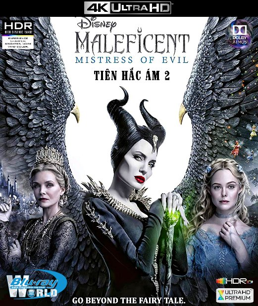 4KUHD-531. Maleficent: Mistress of Evil 2019 - Tiên Hắc Ám 2 4K-66G (TRUE- HD 7.1 DOLBY ATMOS - HDR 10+)