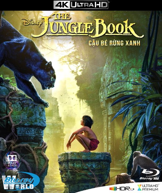 4KUHD-534. The Jungle Book - Cậu Bé Rừng Xanh 4K-66G (TRUE- HD 7.1 DOLBY ATMOS - DOLBY VISION)