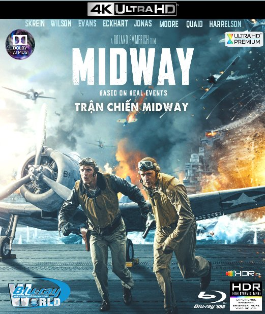 4KUHD-544. Midway 2019 - Trận Chiến Midway 4K-66G (TRUE- HD 7.1 DOLBY ATMOS - HDR 10+)