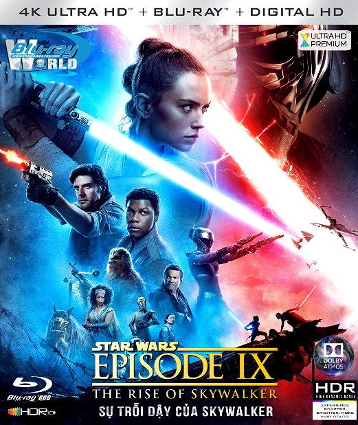4KUHD-522. Star Wars Episode IX - The Rise of Skywalker 2019 - Star Wars 9 : Sự Trỗi Dậy Của Skywalker 4K-66G (TRUE- HD 7.1 DOLBY ATMOS - HDR 10+)