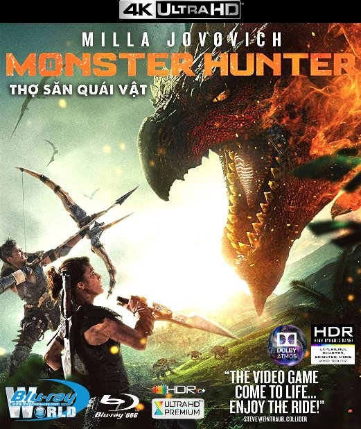 4KUHD-647. Monster Hunter 2021 -  Thợ Săn Quái Vật 4K-66G (TRUE- HD 7.1 DOLBY ATMOS - HDR 10+)