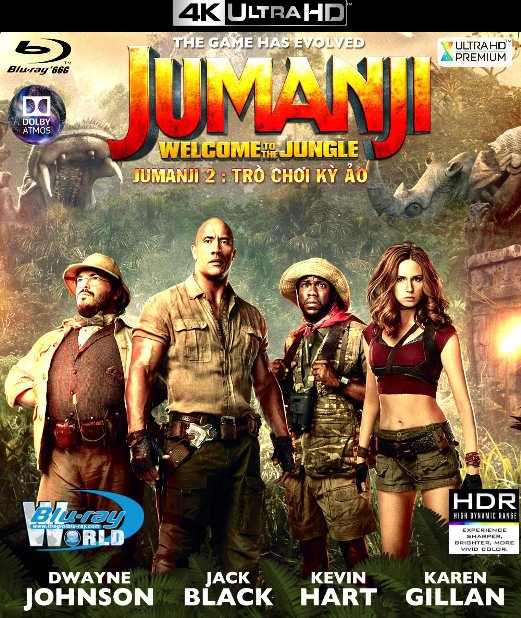 4KUHD-087.Jumanji: Welcome To The Jungle 2017 - Jumanji 2 : Trò Chời Kỳ Ảo 4K-66G (TRUE- HD 7.1 DOLBY ATMOS)