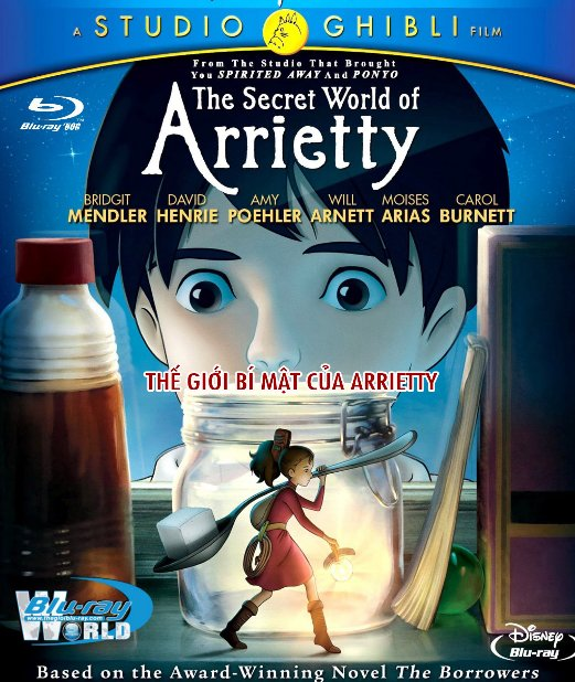 B2505.The Secret World of Arrietty - Thế Giới Bí Mật Của Arrietty 2D25G (DTS-HD 5.1) Studio Ghibli