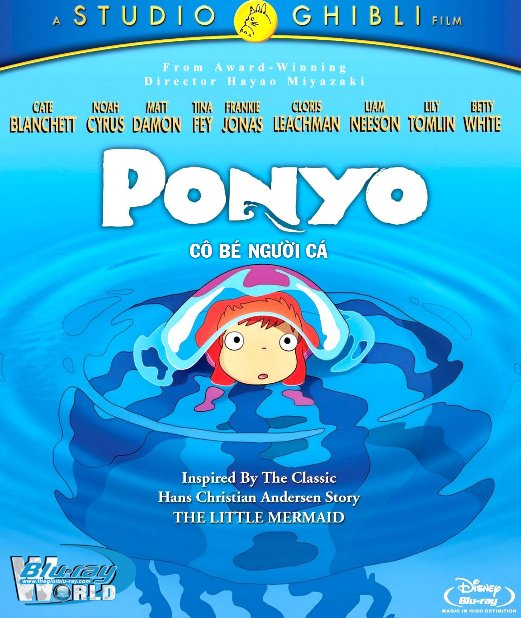 F1045.Ponyo on the Cliff by the Sea 2009 - Cô Bé Người Cá 2D50G (DTS-HD 5.1) Studio Ghibli