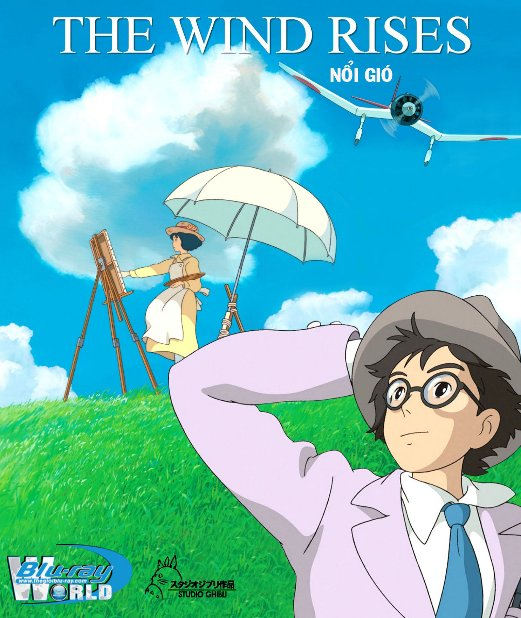 F1052.The Wind Rises 2013 - Nổi Gió  2D50G (DTS-HD 5.1) Studio Ghibli