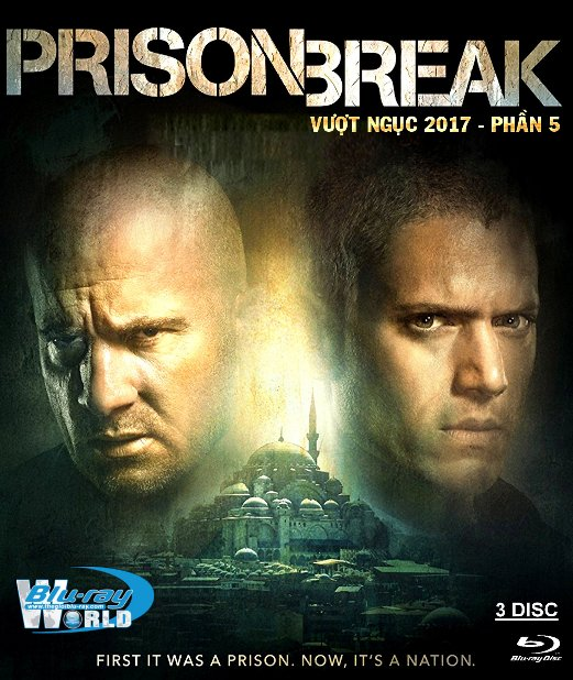 F1062. PRISON BREAK SEQUEL 2017 - VƯỢT NGỤC 2017 - PHẦN 5  (2D50G - 3DISC) (DTS-HD MA 5.1)