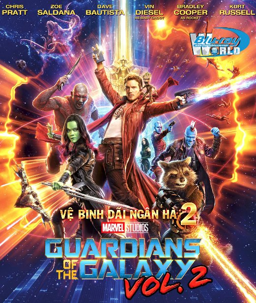B3122.Guardians of the Galaxy Vol 2 2017 - Vệ Binh Dãi Ngân Hà 2 2D25G (DTS - HD MA 7.1)