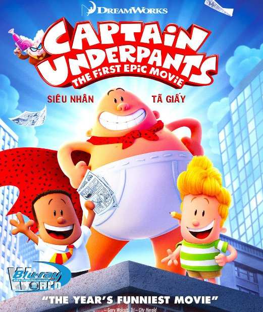 B3150. Captain Underpants The First 2017 - SIÊU NHÂN TẢ GIẤY 2D25G (DTS-HD MA 7.1)