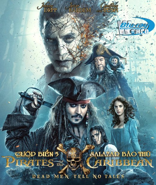 F1136.Pirates Of The Caribbean 5 : Dead Men Tell No Tales 2017 - CƯỚP BIỂN VÙNG CARIBBEAN 5: SALAZAR BÁO THÙ 2D50G (DTS-HD MA 7.1)