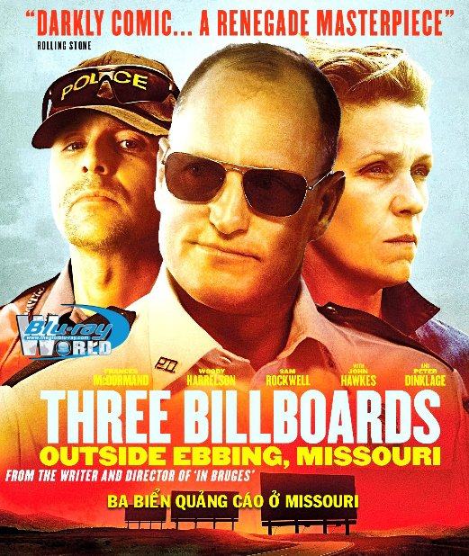 B3378.Three Billboards Outside Ebbing, Missouri 2017 - Ba Biển Quảng Cáo Ở Missouri 2D25G (DTS-HD MA 5.1)