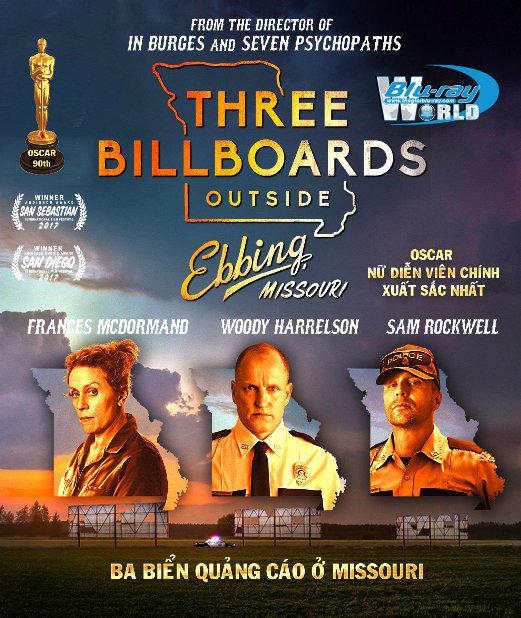 B3378.Three Billboards Outside Ebbing, Missouri 2017 - Ba Biển Quảng Cáo Ở Missouri 2D25G (DTS-HD MA 5.1) OSCAR 90TH