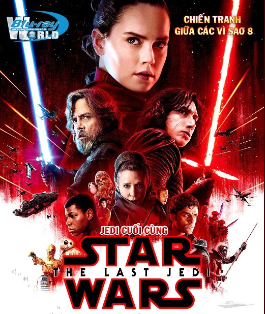 B3417. Star Wars VIII The Last Jedi 2017 - Star Wars 8: Jedi Cuối Cùng 2D25G (DTS-HD MA 7.1)