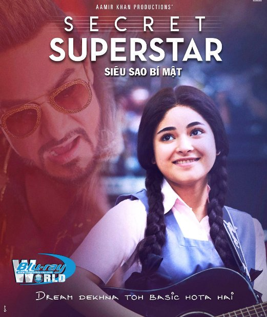 F1408. Secret Superstar 2018 - Siêu Sao Bí Mật 2D50G (TRUE - HD 7.1 DOLBY ATMOS)
