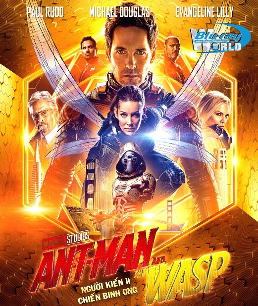 F1458. Ant-Man and the Wasp 2018 - Người Kiến II : Chiến Binh Ong 2D50G (DTS-HD MA 7.1)