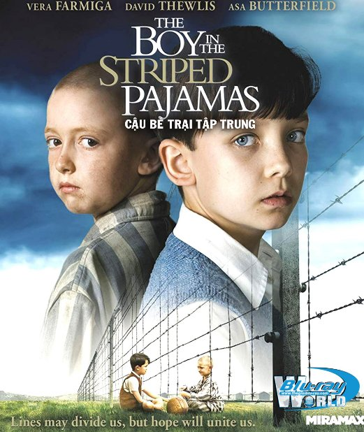 B3857. The Boy In The Striped Pyjamas - Cậu Bé Trại Tập Trung 2D25G (DTS-HD MA 5.1)