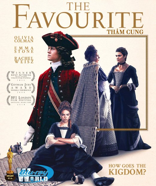 B3882. The Favourite 2018 - THÂM CUNG 2D25G (DTS-HD MA 5.1) OSCAR 91