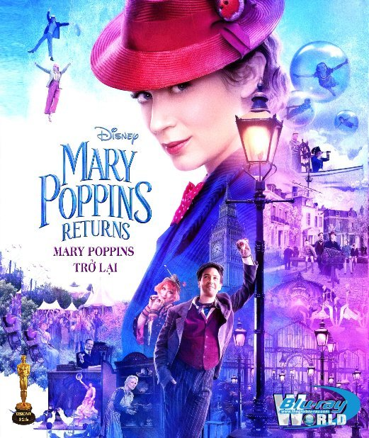 B3904. Mary Poppins Returns 2019 - Mary Poppins Trở Lại 2D25G (DTS-HD MA 7.1) OSCAR 91