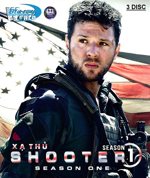 B4012. SHOOTER SEASON 1 - XẠ THỦ PHẦN 1 (3DISC) 2D25G (TRUE- HD 7.1 DOLBY ATMOS)