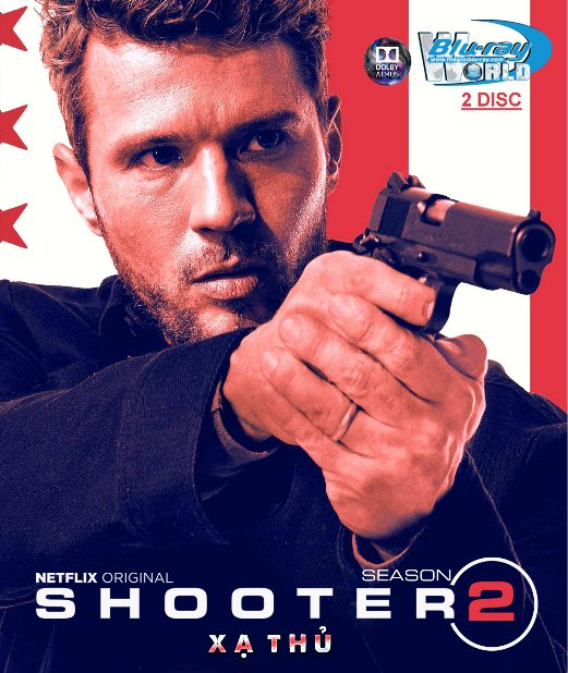 B4013. SHOOTER SEASON 2 - XẠ THỦ PHẦN 2 (2DISC) 2D25G (TRUE- HD 7.1 DOLBY ATMOS)