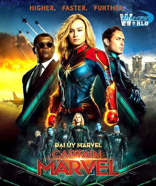 B4031. Captain Marvel 2019 - Đại Úy Marvel 2D25G (DTS-HD MA 7.1)