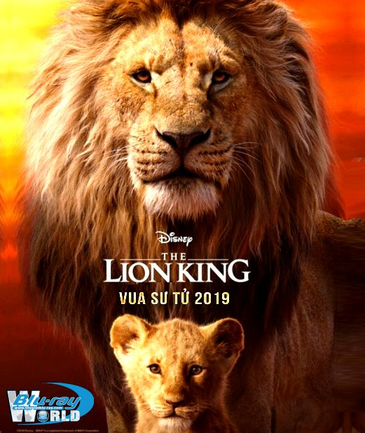 F1818. The Lion King 2019 - Vua Sư Tử 2D50G (DTS-HD MA 7.1)