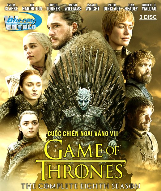 B4259.Game of Thrones Season VIII - Cuộc Chiến Ngai Vàng 8 2D25G - 3DISC (TRUE - HD 7.1 DOLBY ATMOS)