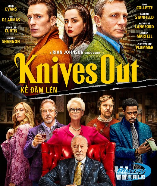 B4361. Knives Out 2019 - Kẻ Đâm Lén 2D25G (TRUE- HD 7.1 DOLBY ATMOS)