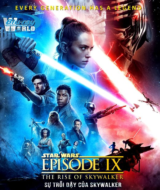 B4402. Star Wars Episode IX - The Rise of Skywalker 2019 - Star Wars 9 : Sự Trỗi Dậy Của Skywalker 2D25G (DTS-HD MA 7.1)