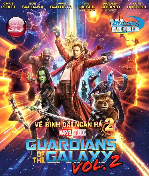 D337.Guardians of the Galaxy Vol 2 2017 - Vệ Binh Dãi Ngân Hà 2 3D25G (DTS - HD MA 7.1)