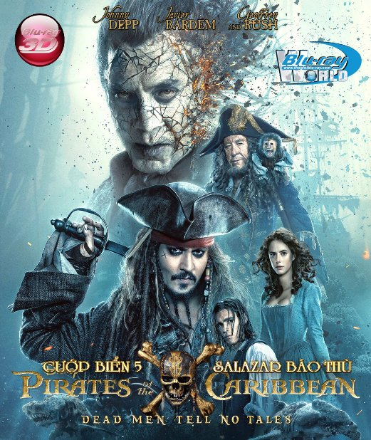 D342.Pirates Of The Caribbean 5 : Dead Men Tell No Tales 2017 - CƯỚP BIỂN VÙNG CARIBBEAN 5: SALAZAR BÁO THÙ 3D25G (DTS-HD MA 7.1)
