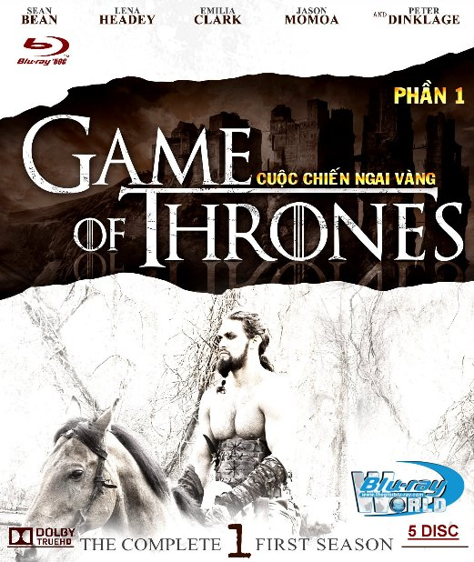 F1230.Game of Thrones Season 1 - Cuộc Chiến Ngai Vàng 1 2D50G - 5DISC (DOLBY TRUE - HD 7.1)