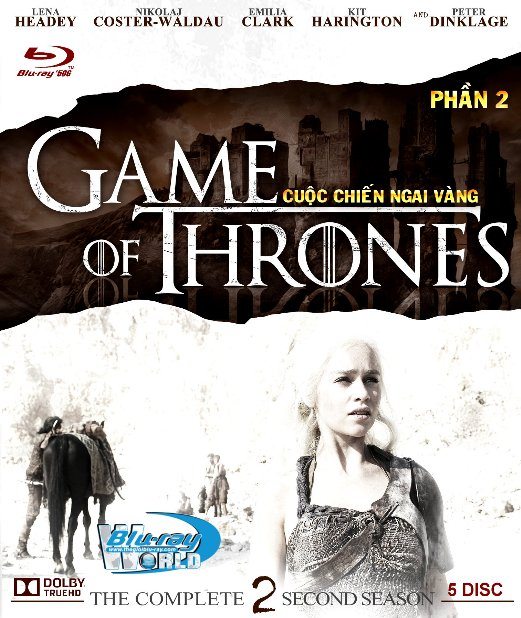 B3394.Game of Thrones Season 2 - Cuộc Chiến Ngai Vàng 2 2D25G - 5DISC (DOLBY TRUE - HD 7.1)