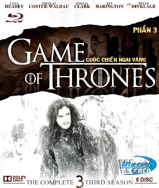 F1232.Game of Thrones Season 3 - Cuộc Chiến Ngai Vàng 3 2D50G - 5DISC (TRUE - HD 7.1 DOLBY ATMOS)