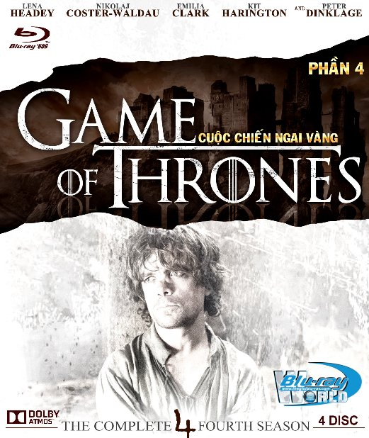 F1233.Game of Thrones Season 4 - Cuộc Chiến Ngai Vàng 4 2D50G - 4DISC (TRUE - HD 7.1 DOLBY ATMOS)