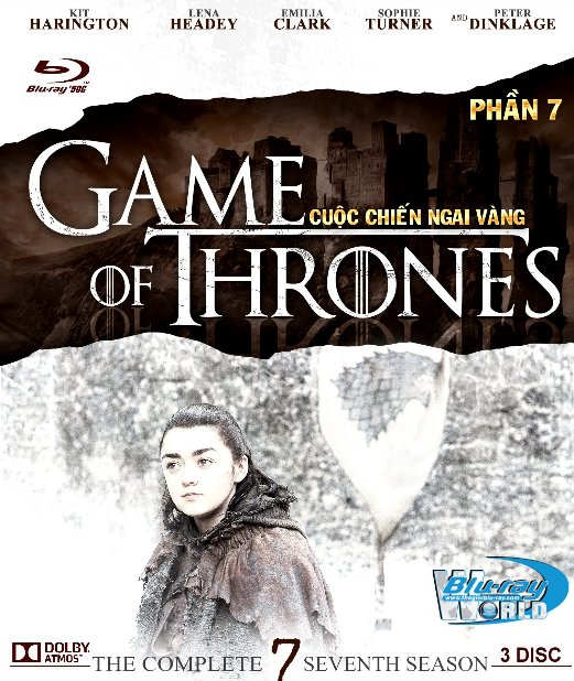 F1236.Game of Thrones Season 7 - Cuộc Chiến Ngai Vàng 7 2D50G - 3DISC (TRUE - HD 7.1 DOLBY ATMOS)