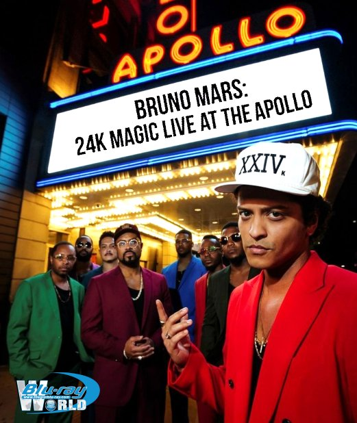 M1996. Bruno Mars 24K Magic Live At The Apollo 2018 (25G)